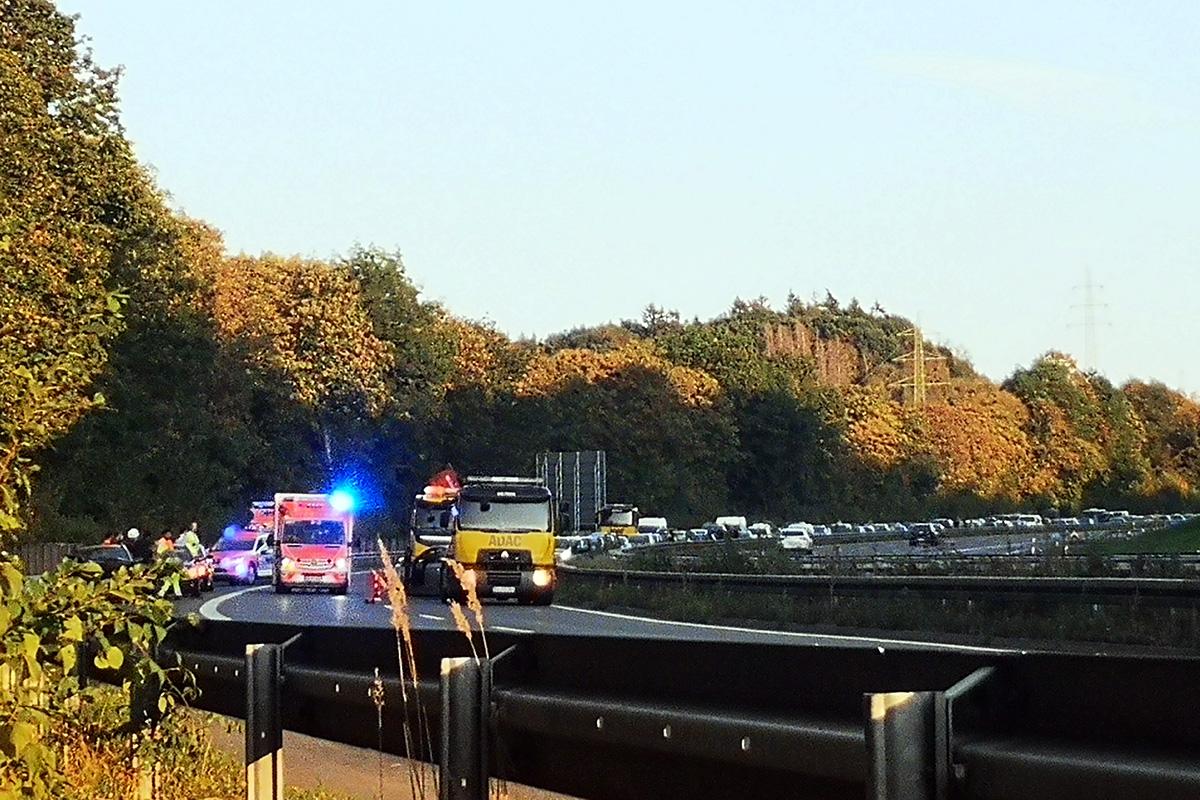 Unfall Richtung Köln